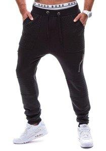 Černé pánské baggy kalhoty Bolf k11