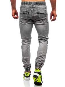 Černé pánské džínové jogger kahoty Bolf KA1828-1