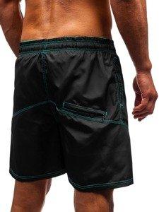 Černé pánské koupací šortky Bolf 348