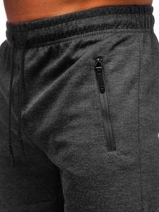 Černé pánské teplákové kraťasy Bolf JX163