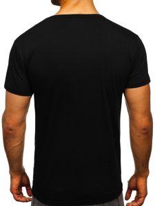 Černé pánské tričko s potiskem Bolf KS2039