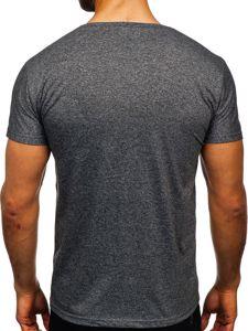 Černé pánské tričko s potiskem Bolf KS2050