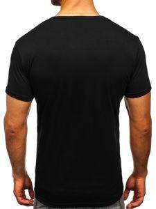 Černé pánské tričko s potiskem Bolf SS11071