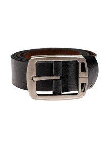 Černý pánský kožený pásek Bolf P006