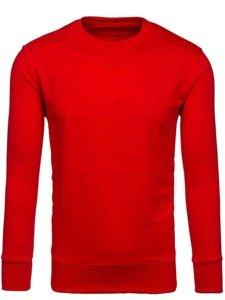 Červená pánská mikina bez kapuce Bolf 7039