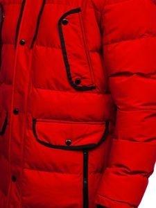 Červená pánská zimní parka Bolf 1091