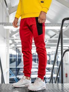 Červené pánské tepláky Bolf JZ11011