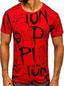 Červené pánské tričko s potiskem Bolf KS1972