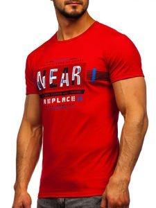 Červené pánské tričko s potiskem Bolf SS11066