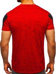 Červené pánské tričko s potiskem Bolf SS11122