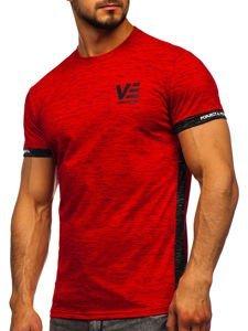 Červené pánské tričko s potiskem Bolf SS11123