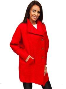 Červený dámský kabát Bolf 7118-1