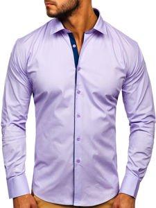 Fialová pánská elegantní košile s dlouhým rukávem Bolf TS50-1
