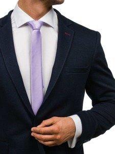 Fialová pánská elegantní kravata Bolf K001
