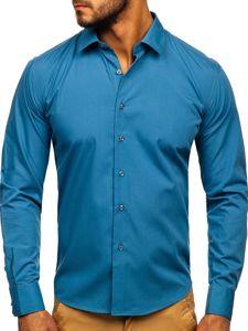 Grafitová pánská elegantní košile s dlouhým rukávem Bolf 0001