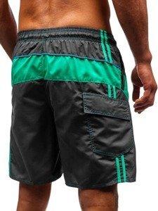 Grafitové pánské koupací šortky Bolf 336