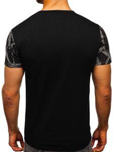 Grafitové pánské tričko s potiskem Bolf 100788-1