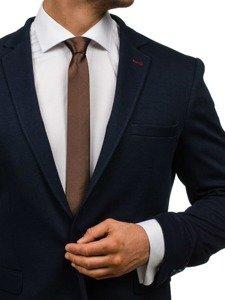 Hnědá pánská elegantní kravata Bolf K001