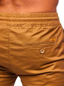 Hnědé pánské jogger kalhoty Bolf KA951