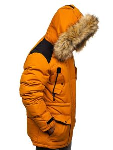 Kamelová pánská zimní bunda Bolf 5948