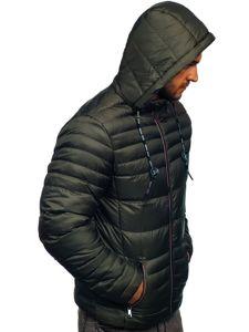 Khaki pánská prošívaná sportovní zimní bunda Bolf 50A215