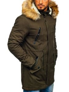 Khaki pánská zimní parka Bolf JK391