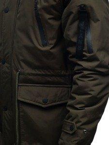 Khaki pánská zimní parka Bolf R102