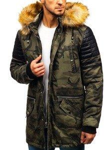 Maskáčovo-khaki pánská zimní parka Bolf 88832
