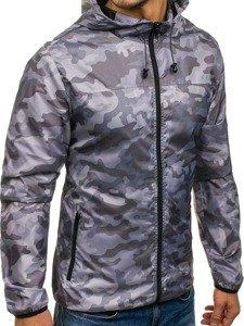 Maskáčovo-šedá pánská přechodová bunda Bolf HY192