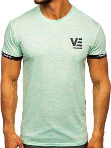 Mátové pánské tričko s potiskem Bolf SS11123
