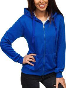 Modrá dámská mikina s kapucí Bolf WB1005