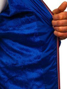 Modrá pánská prošívaná sportovní zimní bunda Bolf 50A178