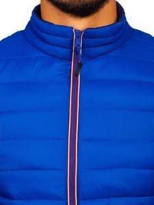 Modrá pánská sportovní zimní bunda Bolf LY1017