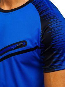 Modré pánské tričko s potiskem Bolf KS2071