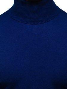 Modrý pánský rolák bez potisku Bolf YY02