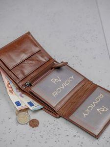 Pánská hnědá kožená peněženka 3136
