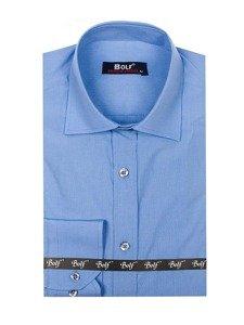 Pánská košile BOLF 1703 blankytná