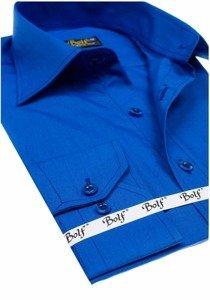 Pánská košile BOLF 1703 královsky modrá