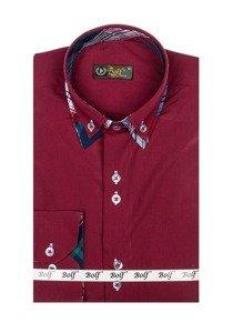 Pánská košile BOLF 4704 bordová