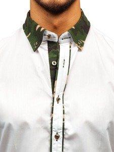 Pánská košile BOLF 6876 maskáčovo-bílá