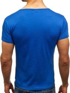 Pánské modré tričko bez potisku Bolf 2006