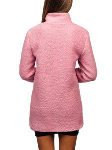 Růžový dámský krátky kabát Bolf 1950