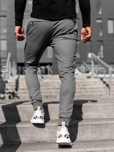 Šedé pánské jogger kalhoty Bolf 11119
