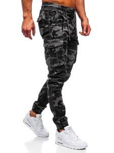 Světle grafitové pánské maskáčové jogger kapsáče Bolf CT6019