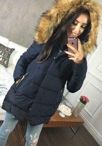 Tmavě modrá dámská zimní bunda Bolf 8071