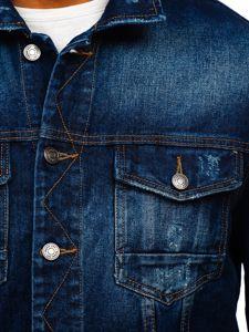Tmavě modrá pánská džínová bunda Bolf 6559B