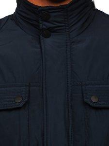 Tmavě modrá pánská elegantní přechodová bunda Bolf 1668