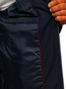 Tmavě modrá pánská elegantní přechodová bunda Bolf 6362