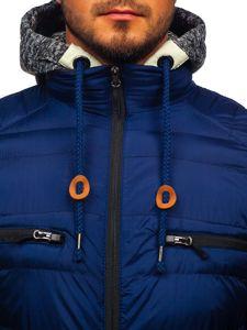 Tmavě modrá pánská sportovní zimní bunda Bolf 50A93