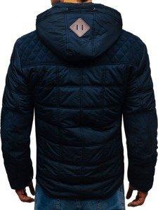 Tmavě modrá pánská zimní bunda Bolf 1820